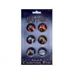 Pack 6 Badges Harry Potter Metal