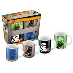 Set 4 Mugs Personnages Star Wars