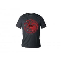 T-Shirt Game of Thrones Targaryen Noir Homme Taille S