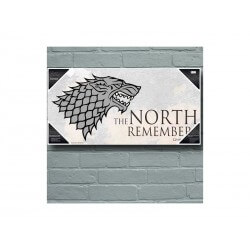 Poster En Verre Game of Thrones - North Remembers 50x25cm