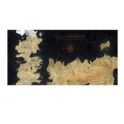 Poster En Verre Game of Thrones - Westeros Map 50x25cm