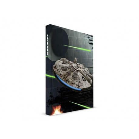 Cahier Sonore Lumineux Star Wars - Millenium Falcon 15x20cm