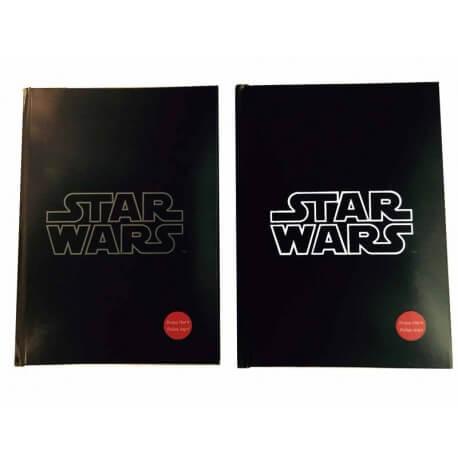 Notebook Lumineux Stars Wars - Logo blanc Exclu 15x20cm