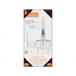 Poster en Verre Star Wars Episode 7 - X-Wing Blueprint 50x25cm