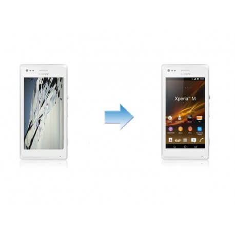 Changement Ecran Tactile + LCD Complet Sony Xperia M