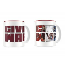 Mug Marvel Civil War - Thermo Logo