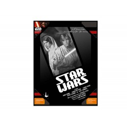 Poster En Verre Star Wars - Luke And Leia B/W 30 x 40cm