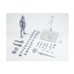 Figurine Homme Deluxe Set Couleur Gris SH Figuarts 14cm