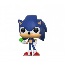 Figurine Sonic - Sonic With Emerald Pop 10cm