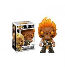 Figurine Mortal Kombat - Scorpion Flaming Skull Head Exclu Pop 10cm