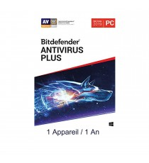 Bitdefender ANTIVIRUS PLUS 2019 - 1 Poste / 1 an