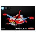 Figurine Goldorak - Réplique Soucoupe Die Cast avec Figurine Ejectable Retro Color Edition
