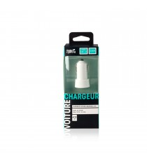 Chargeur voiture USBx2 Blanc
