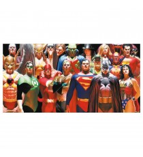 Poster DC Comics verre trempé - Alex Ross Justice League 30x60cm