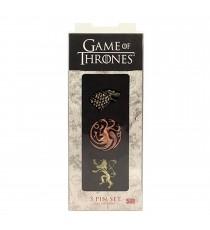 Set de 3 Pins Game Of Thrones - Stark Targaryen Lannister