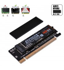 Adaptateur M.2 NVME SSD vers PCI Express