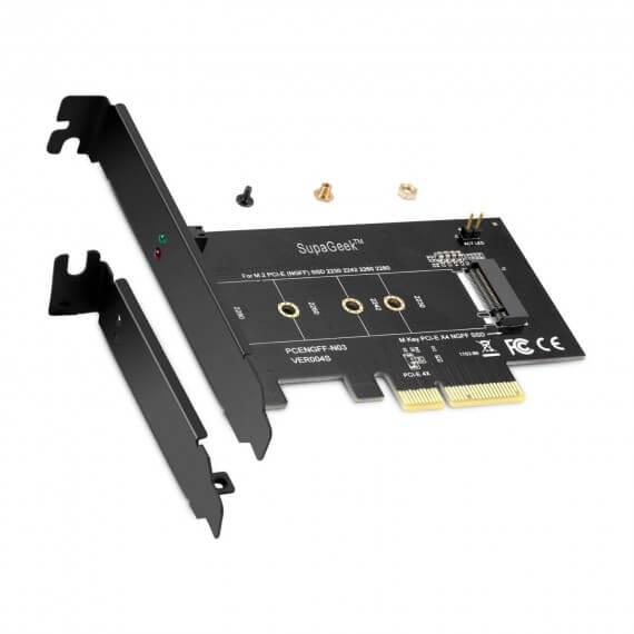 Adaptateur M.2 NVME SSD 2280, 2260, 2242, 2230 vers PCI Express X4