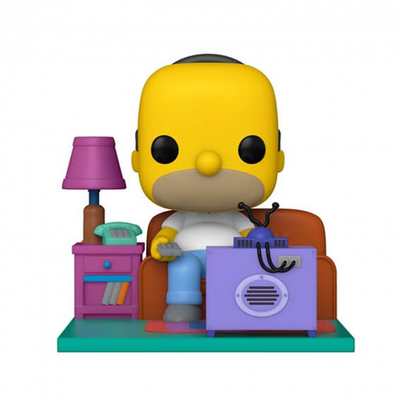 Figurine Simpsons - Deluxe Homer Watching Tv Pop 18cm