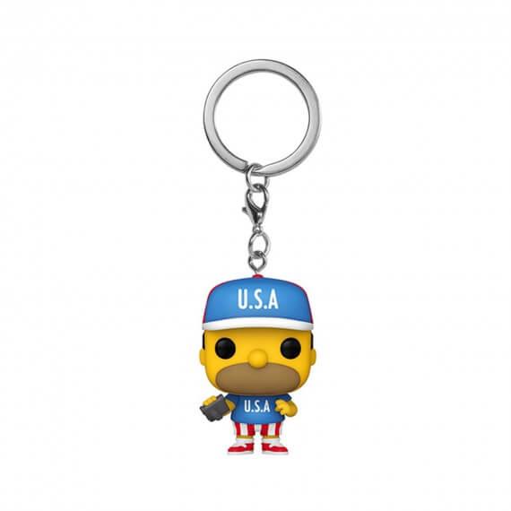Porte Clé Simpsons - Usa Homer Pocket Pop 4cm