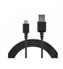 Câble micro USB Noir 1.20M