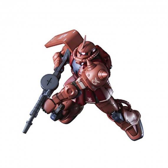 Maquette Gundam - 024 MS-06S Zaku II Mobile Suit Red Comet Ver Gunpla HG 1/144 13cm