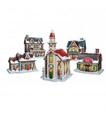 Puzzle 3D Monument - Village de Noël 116 Pièces