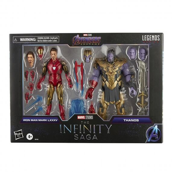 Figurine Marvel Legends Endgame - 2 Pack Iron Man Mark 85 Vs Thanos 15cm