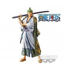 Figurine One Piece - Zoro Grandline Men Wanokuni Vol 2 DXF 17cm