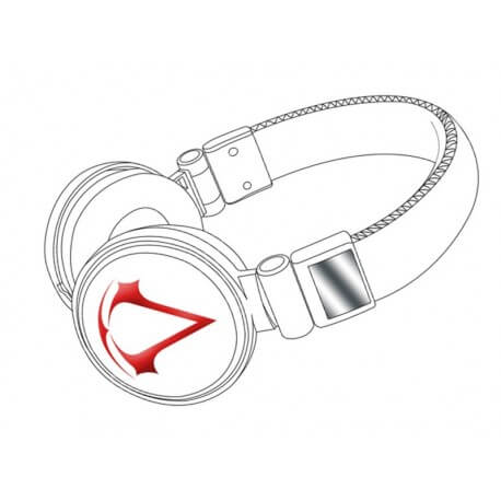 Casque Audio gaming Assassin´s Creed III 3D Red/White