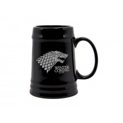 Game of Thrones - Chope céramique Noir - Stark Winter is coming